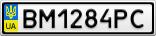 Номерной знак - BM1284PC