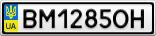 Номерной знак - BM1285OH