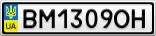 Номерной знак - BM1309OH
