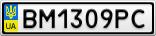 Номерной знак - BM1309PC