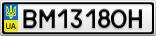 Номерной знак - BM1318OH