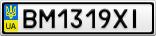 Номерной знак - BM1319XI