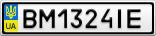 Номерной знак - BM1324IE