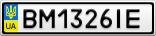 Номерной знак - BM1326IE