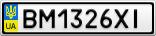 Номерной знак - BM1326XI