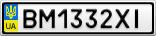 Номерной знак - BM1332XI