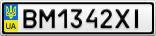 Номерной знак - BM1342XI