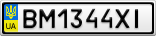 Номерной знак - BM1344XI