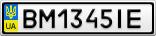 Номерной знак - BM1345IE
