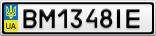 Номерной знак - BM1348IE