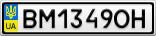 Номерной знак - BM1349OH