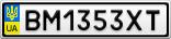 Номерной знак - BM1353XT