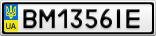 Номерной знак - BM1356IE