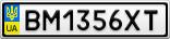 Номерной знак - BM1356XT