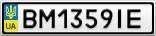 Номерной знак - BM1359IE