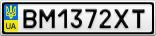 Номерной знак - BM1372XT