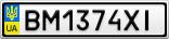 Номерной знак - BM1374XI