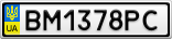 Номерной знак - BM1378PC