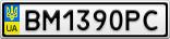 Номерной знак - BM1390PC