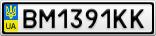 Номерной знак - BM1391KK