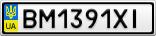 Номерной знак - BM1391XI