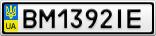 Номерной знак - BM1392IE