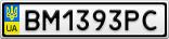 Номерной знак - BM1393PC