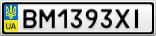 Номерной знак - BM1393XI