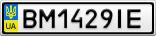 Номерной знак - BM1429IE