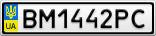 Номерной знак - BM1442PC