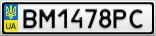 Номерной знак - BM1478PC