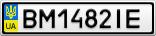 Номерной знак - BM1482IE