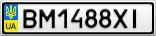Номерной знак - BM1488XI
