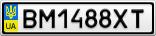 Номерной знак - BM1488XT