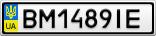 Номерной знак - BM1489IE