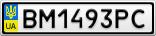 Номерной знак - BM1493PC