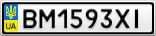 Номерной знак - BM1593XI