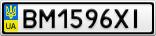 Номерной знак - BM1596XI