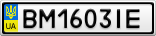Номерной знак - BM1603IE