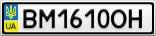 Номерной знак - BM1610OH