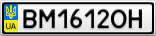 Номерной знак - BM1612OH