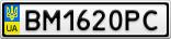 Номерной знак - BM1620PC