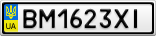 Номерной знак - BM1623XI