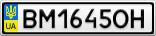 Номерной знак - BM1645OH