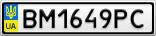 Номерной знак - BM1649PC
