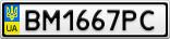 Номерной знак - BM1667PC