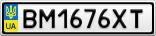 Номерной знак - BM1676XT
