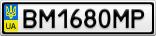 Номерной знак - BM1680MP