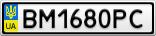 Номерной знак - BM1680PC