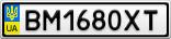 Номерной знак - BM1680XT